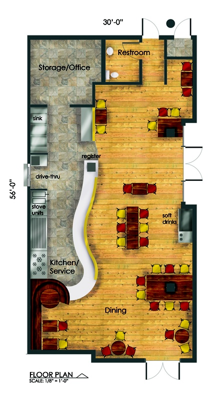 hot chix:  floor plan