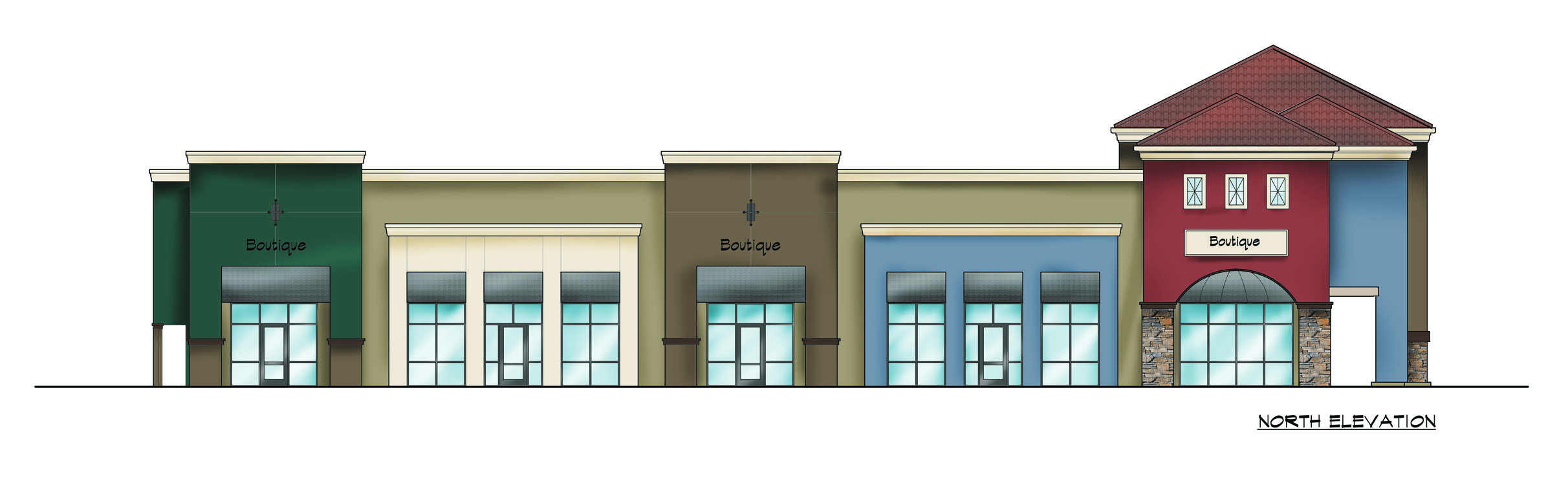 New Earth Market: north elevation