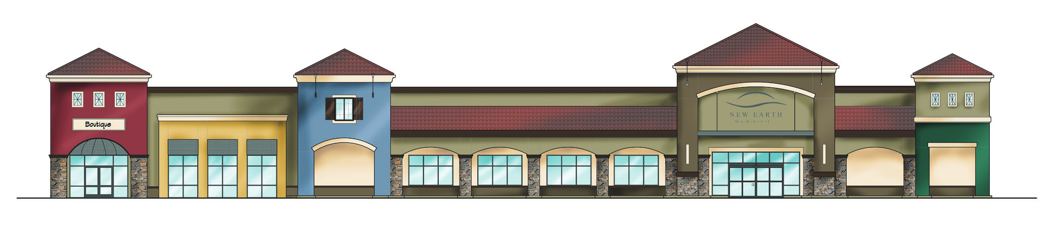 New Earth Market: west elevation